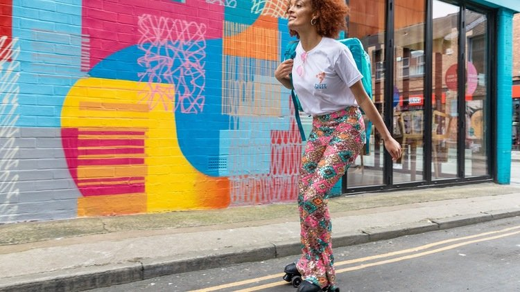 DELIVEROO LAUNCHES FIRST EVER ROLLER SKATE DELIVERY WITH PATTY QUEEN